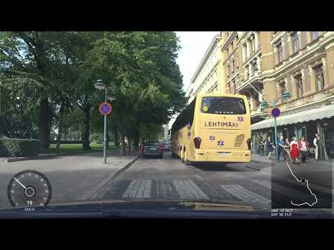 Driving in Helsinki centrum and Kaivopuisto area - 12.8.2017