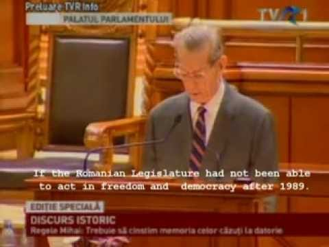The speech Of His Majesty King Michael I Before The Parliament Of Romania 2011- English subtitle