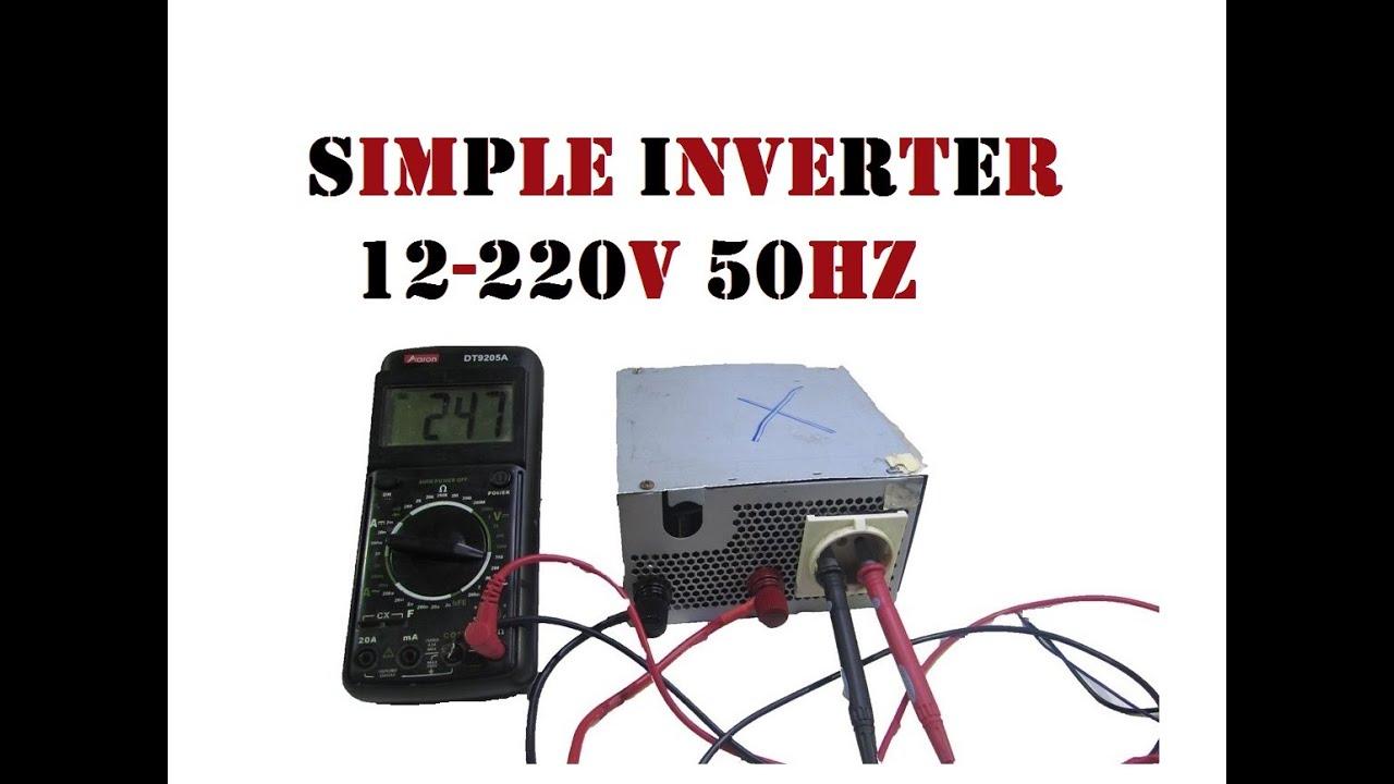 Simple inverter 12V - 220V 50Hz 3