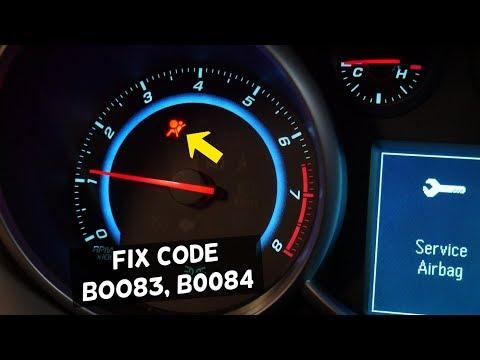 FIX CODE B0083 B0084 AIRBAG LIGHT ON CHEVY, CHEVROLET, BUICK, GMC, CADILLAC