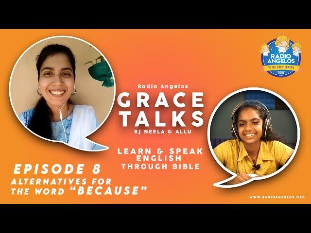 LEARN & SPEAK ENGLISH THROUGH BIBLE 08 | Alternatives for the word because | RJ NEELA & ALLU
