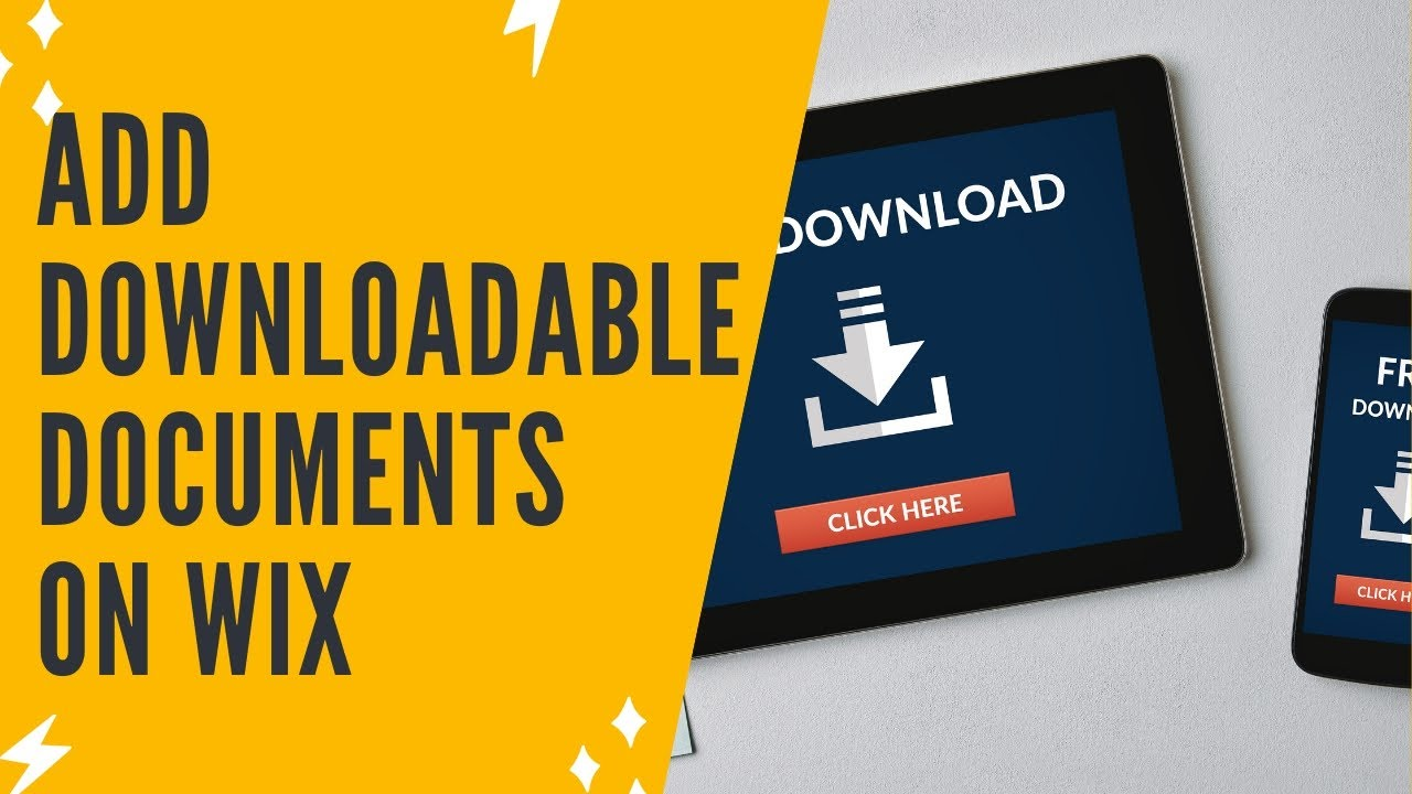 ADDING DOWNLOADABLE DOCUMENTS ON WIX