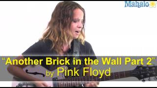 "How to Play ""Another Brick in the Wall Part 2"" by Pink Floyd on Guitar"