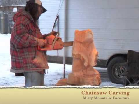 Chainsaw Carving At Misty Mountain Furniture