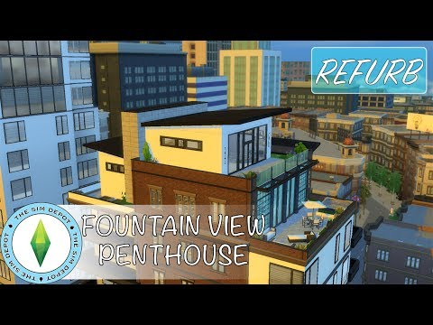 The Sims 4 Apartment Build   FountainView Penthouse