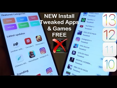 NEW UPDATE Install Tweaked Apps & Games FREE iOS 12 - 12 4 1 / 11 NO  Computer iPhone iPad iPod