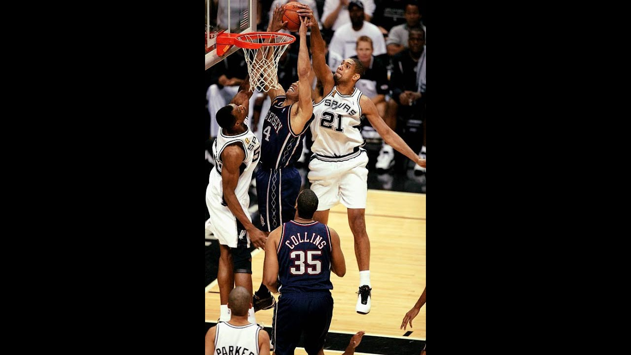 Tim Duncan Lockdown Defense vs. New Jersey Nets 2003 NBA ...