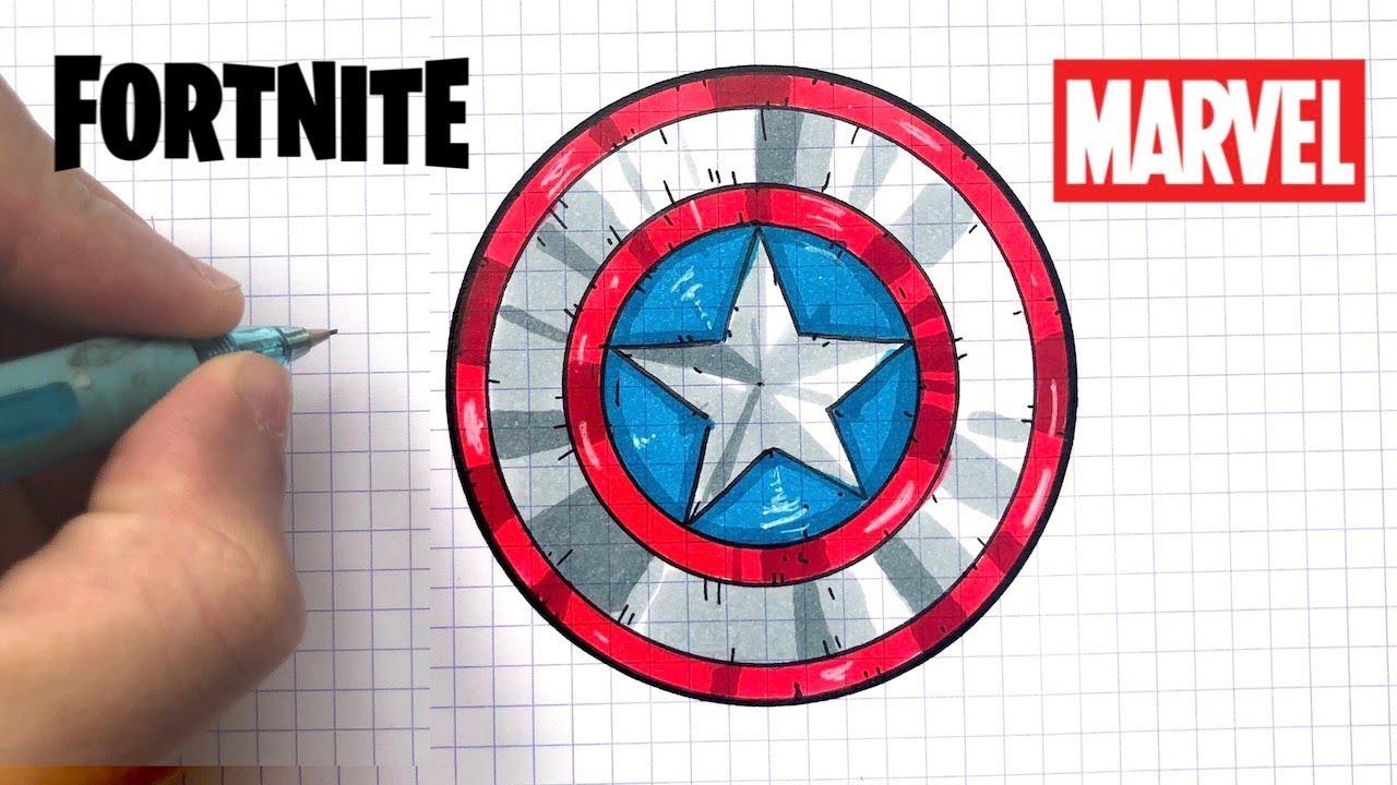 Tuto Dessin Bouclier Captain America Fortnite Youtube