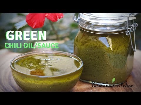 how-to-make-spicy-green-chili-sauce/oil