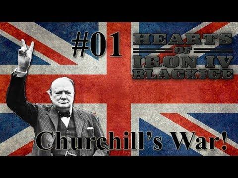 Hearts of Iron IV BlackICE - Britain 01 Churchill's War!