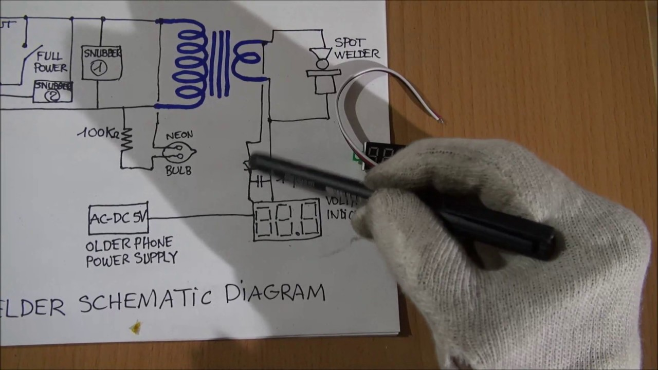 Schematic And Diagram Of The Tiny Compact Spot Welder Youtube Resistance Welding