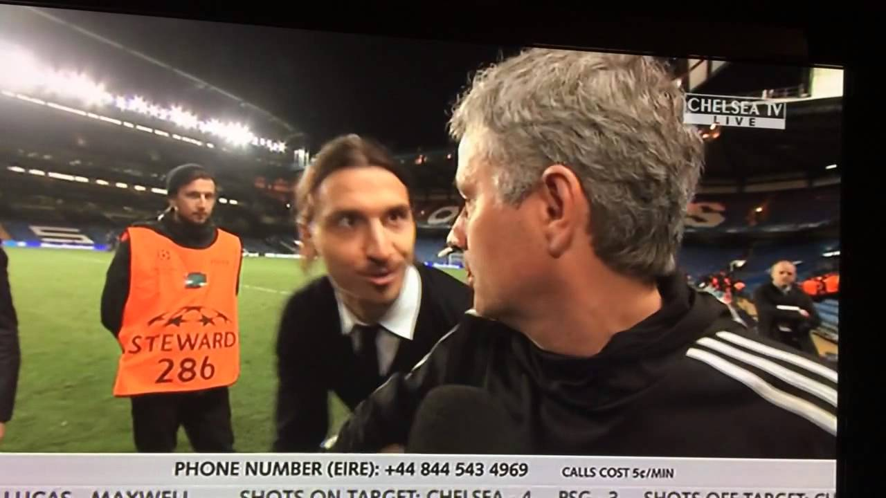 """Download Ibrahimovic wishes Mourinho """"good luck"""" in the Champions League"""