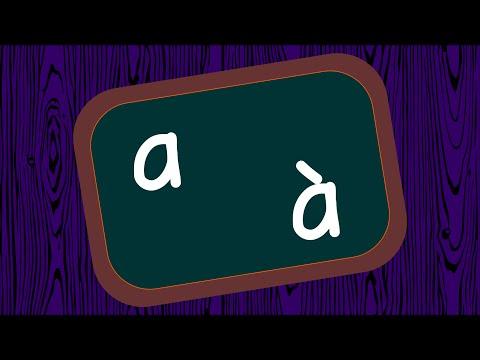 Ne pas confondre [a] et [à]