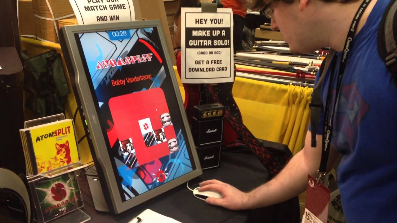 Trade Show Booth Quiz : Atomsplit booth digital game youtube