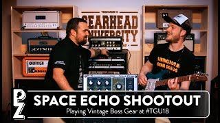 Roland RE-201 Space Echo VS Boss RE-20 at #TGU18