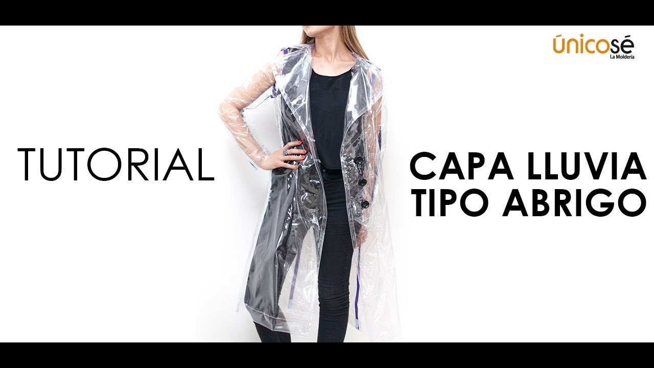 DIY tutorial costura : Capa lluvia tipo abrigo piloto. - YouTube