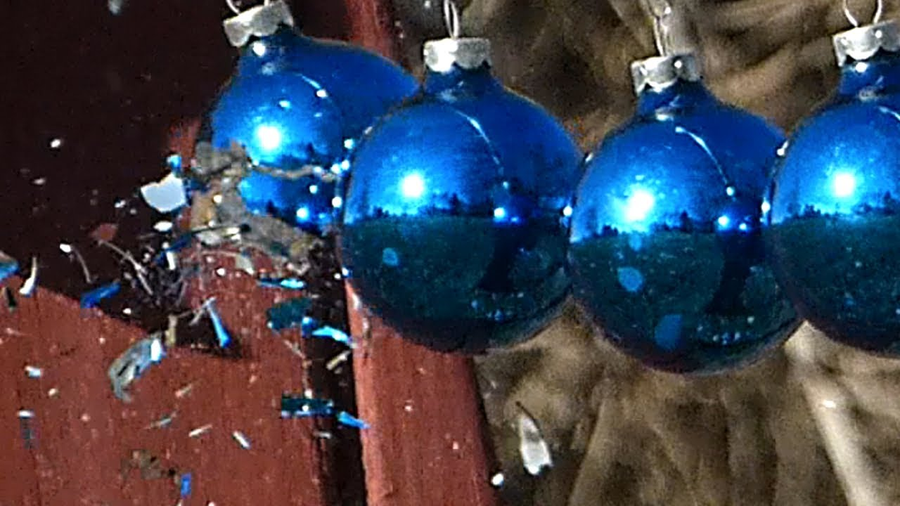 Glass globe ornaments - Holiday Video Glass Ornaments Shatter Slow Motion