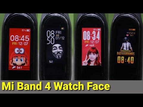 Mi Band 4 Custom Watch Face