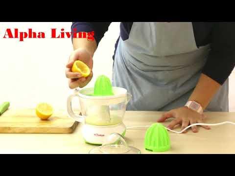 Alpha Living Automatic Citrus Juicer with Adjustable Pulp Control 0.7L 25W (KEA0094)
