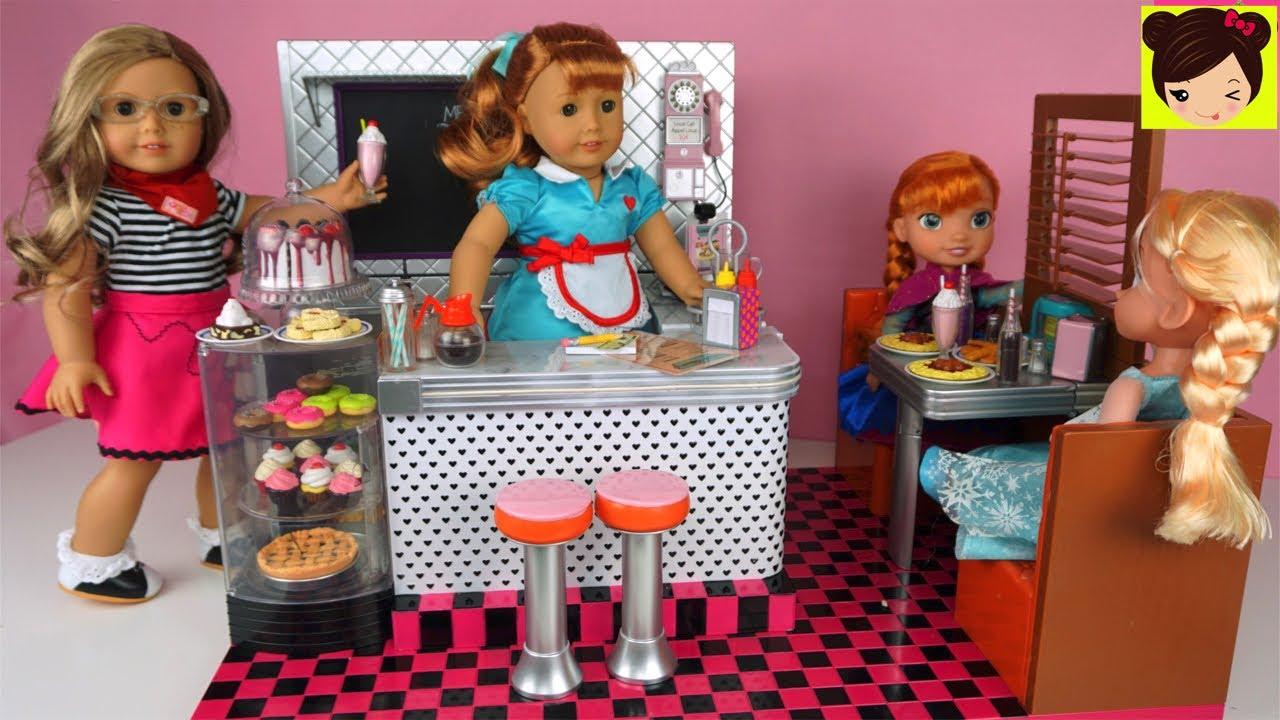Niños Juguete Cocina ElsaAnna Para Con Muñecas Juego De American Restaurante Y Girls f6ygbv7Y