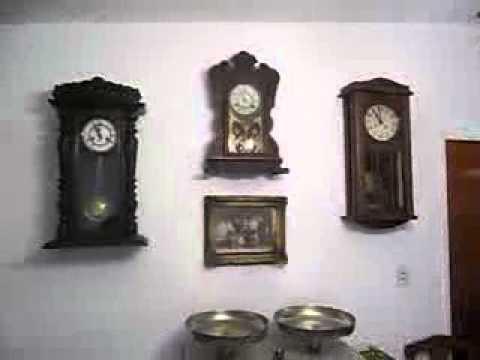 Antiguos relojes a Pndulo de pared  YouTube