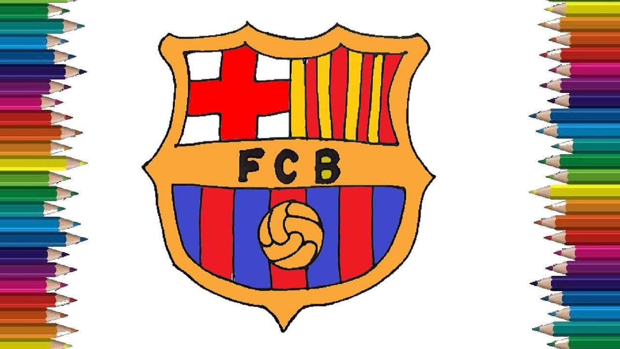 how to draw the fc barcelona logo step by step easy youtube how to draw the fc barcelona logo step by step easy