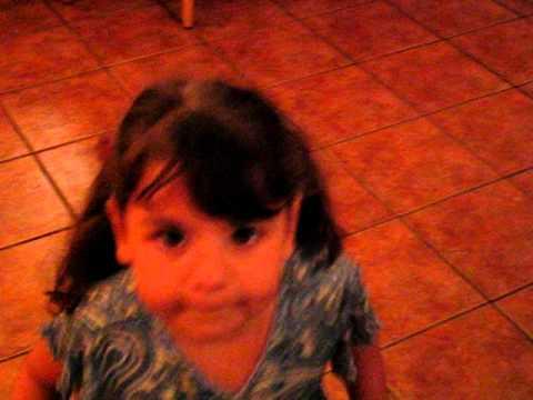 Little girl creating dance moves