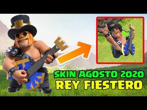 NUEVO SKIN: Rey Fiestero Celebra los 8 años de Clash of Clans Agosto 2020