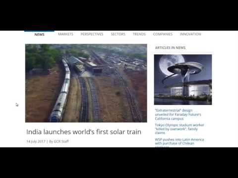 Solar Powered Trains In Coming Online In India