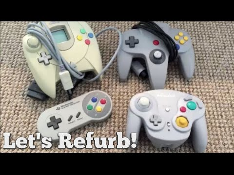 Let's Refurb! - How to Clean a Retro Controller!