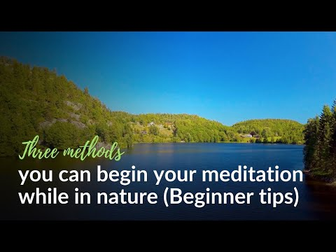 Three methods you can begin your meditation while in nature (Beginner tips)