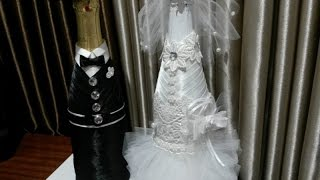 Бутылка своими руками. Невеста,часть 1.