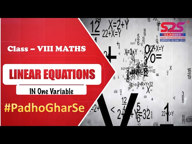 Class 8 Maths - Chapter 2 - Linear Equations in One Variable - Ex 2.2 NCERT