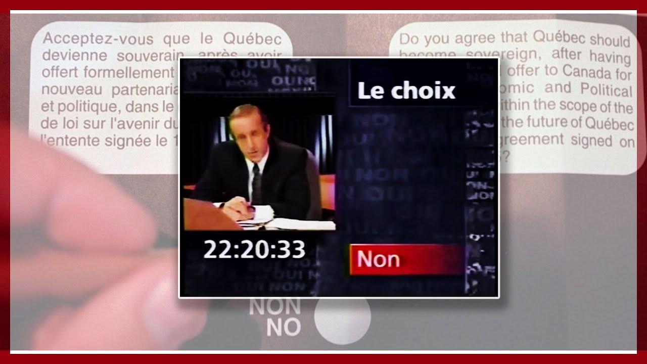 Quebec referendum night news // Les nouvelles télévisées le soir du référendum 1995