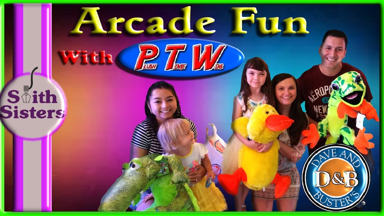 Dave and Busters Arcade Claw With Plush Time Wins Claw Machine Game Room  Smith Sisters