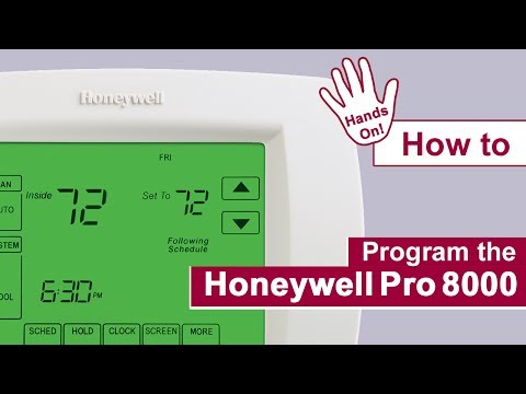 How to program the Honeywell Pro 8000 Thermostat