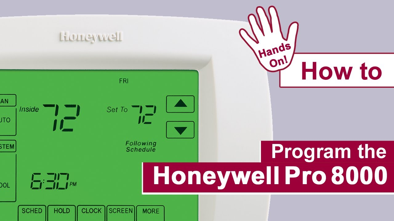 How To Program The Honeywell Pro 8000 Thermostat Youtube 8600 Programmable Wiring Diagram