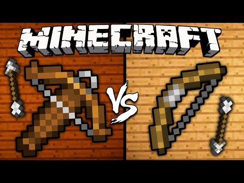 Crossbow Vs. Bow - Minecraft