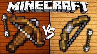 Crossbow vs. Bow - Minecraft