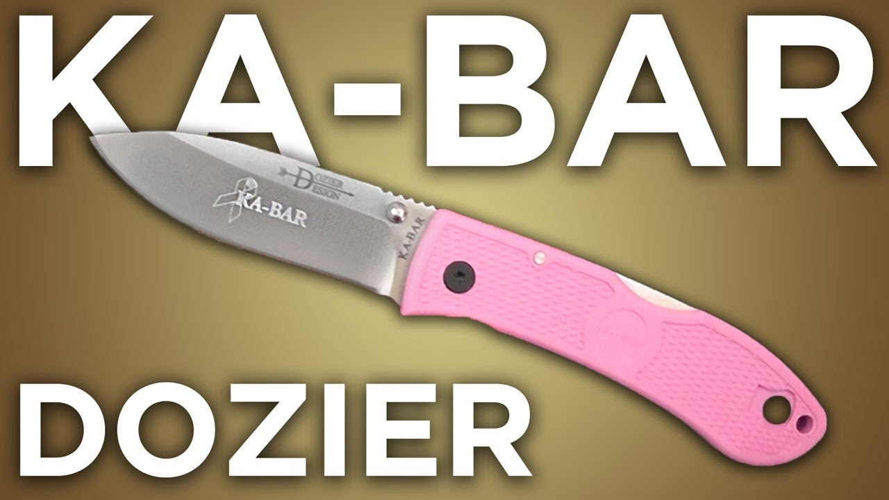 Ka-Bar Dozier Folding Knife: Pink Ribbon Edition