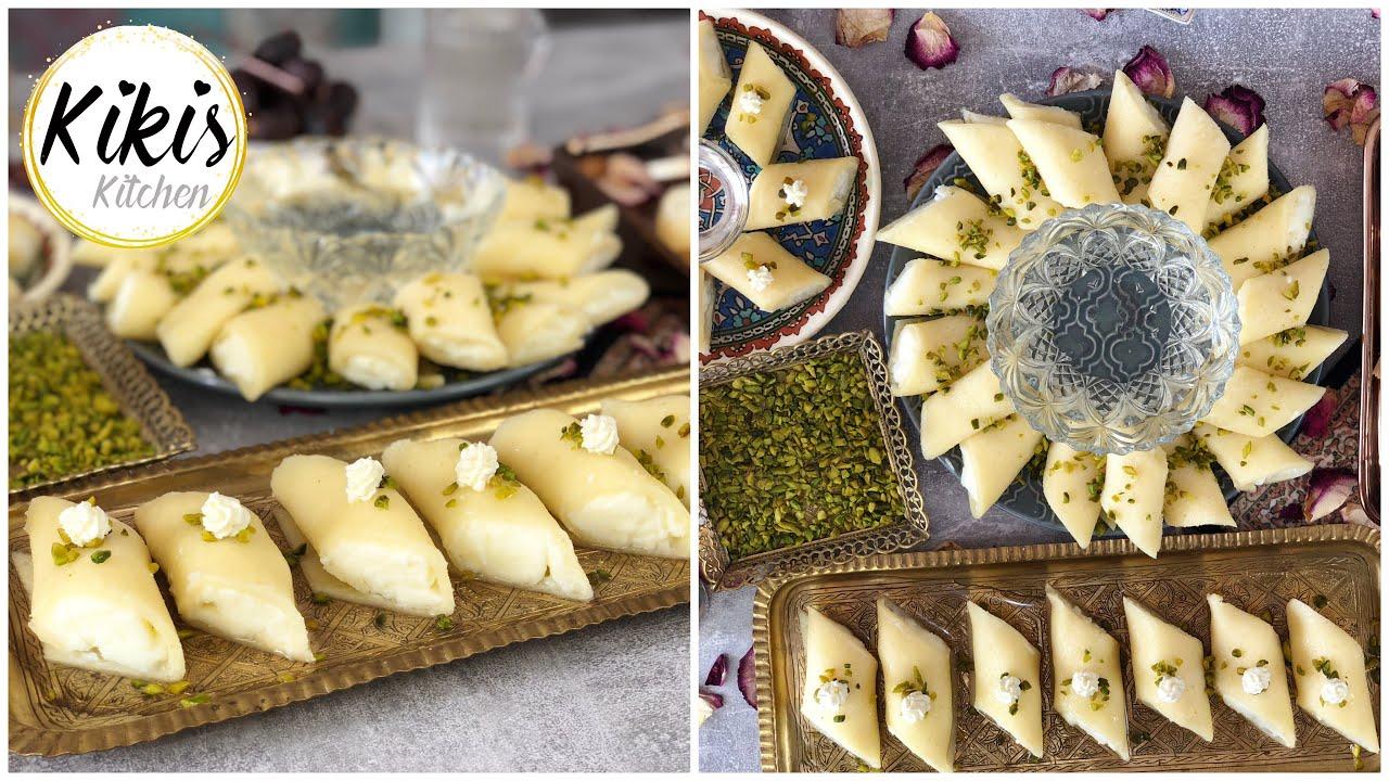 Halawet El Jibn Rezept mit Ashta / Qashta | Syrische Spezialität |  Mozarella Süßspeise Halawa | #12