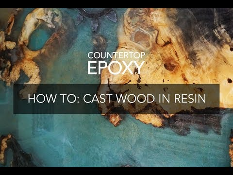 How-To Cast a Burl Wood Table with Epoxy