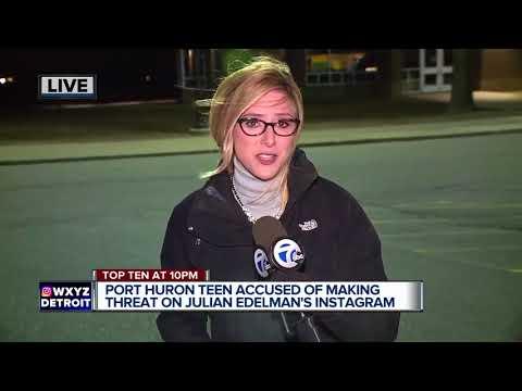 Port Huron teen accused of making threat on Patriots' Julian Edelman's Instagram account