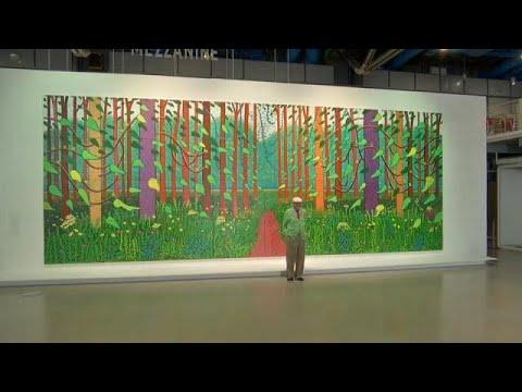 euronews (en français): Le cadeau monumental de David Hockney à Paris