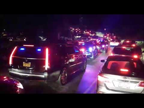 Motorcade Of Satmar Rebbe Of Williamsburg Heads To Satmar Kever On Yartzheit