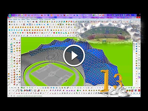 TUTORIAL SketchUp Modeling Advanced - Proyecto 13 Munich Olympic Stadium, Alemania Part 1