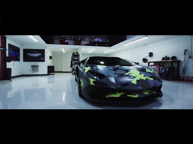 Lamborghini Aventador SV в флуоресцентном камуфляже.