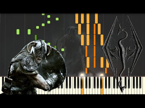 Skyrim - Main Theme [Piano Tutorial] (Synthesia) // Kyle Landry + SHEETS/MIDI