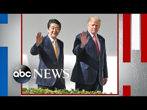 Donald Trump Meets With Japanese Prime Minister