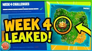 *LEAKED* WEEK 4 CHALLENGES & GRATIS BATTLE STAR!! - Fortnite: Battle Royale